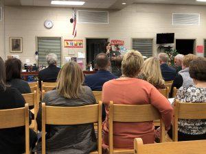 Susan Horne, Fifth District School Board Member speaks
