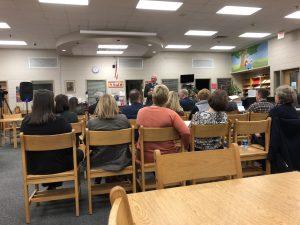 Bob Thomas, Knox School Superintendent Greets the attendees
