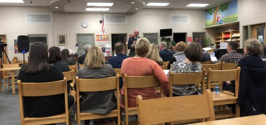 Bob Thomas, Knox School Superintendent Greets the attendees