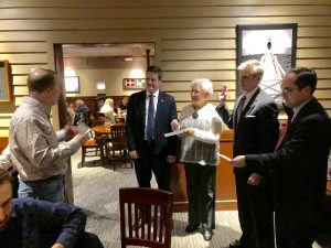 Nystrom swore in the 2018 Club Officers