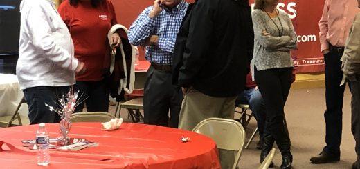 Rep. Matlock talking with colleague Rep. Calfee