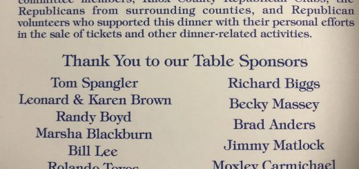 Table Sponsors for the 2018 Knox County Republican Party Lincoln Day Dinner