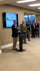 House Majority Leader Glen Casada in support of Aikens introduced Mayor Aikens.