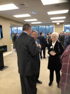 State Representative Kent Calfee talking with Joel and Sandy Garber.