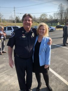 "Knox County Sheriff Jimmy ""J.J."" Jones and District Attorney Charme Allen"