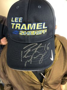 A Tramel hat with Peyton Manning's autograph