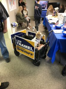 Bandit a Supporter of Tramel is ready to mobilize the voters.