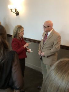 Knox County Criminal Court Clerk Mike Hammond visits with Blackburn