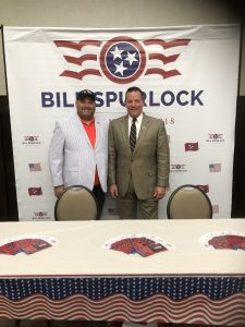 TN Third District Congressional Candidate Bill Spurlock and I.