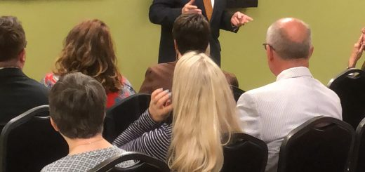 Hammond speaking at the Council West Knox County Homeowners on April 3rd
