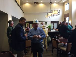 A lunch reception followed after the ground breaking at the Hampton Inn on Pratt Road.