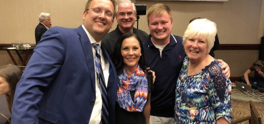 Biggs with Knox County Commissioner Michele Carringer, her husband Dr. Mike Carringer, Zach Wishart and Justin's mom Mrs. Pat Biggs.