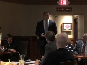 Jacobs talking to West Knox Republican Club 5/14/2018