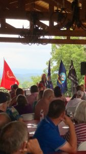 Marsha Blackburn speaking at the 6/23/2018 Grainger County Republican Women Club Picnic
