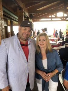 Brian Hornback and Marsha Blackburn at the 6/23/2018 Grainger County Republican Women Club Picnic