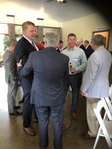 Lt. Governor Randy McNally greeting Jacobs