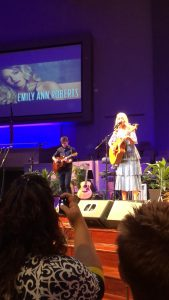 Emily Ann Roberts and her guitar player