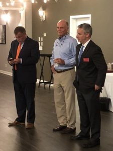 McBride, Cake Auctioneer John Griess and Charles Susano, Candidate for Knox County Circuit Court Clerk