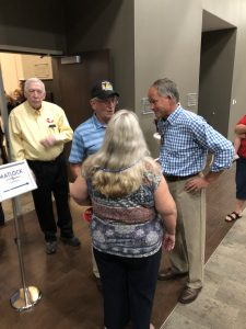Matlock upon arrival at The Venue in Lenoir City talking with Supporters