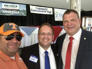 Myself, Knox County Commission at Large Seat 11 Justin Biggs and Knox County Mayor Glenn Jacobs