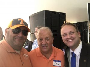 myself, Retired Knox County Sheriffs Chief Eddie Biggs and Knox County Commissioner at Large Seat 11 Justin Biggs