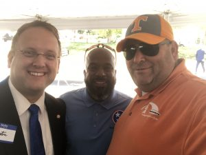 Justin Biggs, State Rep. Rick Staples and Me