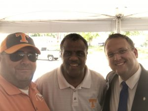 Myself, former County Commissioner Sam Mckenzie and Justin Biggs
