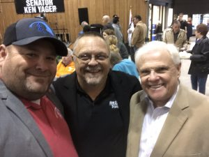 Myself, Roane County Commissioner Junior Hendrickson and Yager at this years Yager Chili Supper.