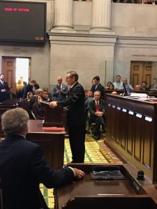 Casada with his remarks to begin the 111th TN General Assembly