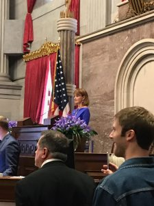 Now Former Speaker of the House Beth Harwell presiding until the NEW Speaker is in Place