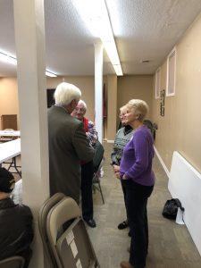 Duncan talking to Teresa Wommack, Darlene and Jim McNease