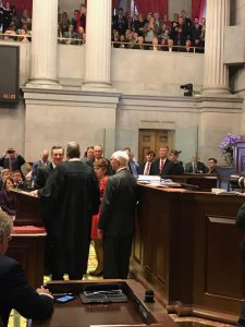 Another view of Casada taking the Oath of Office as Speaker