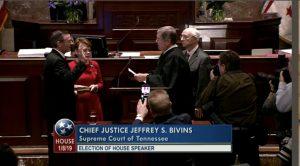 Glen Canada taking the Oath of Office as Speaker