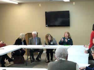 Elizabeth Bradshaw, Duncan, Eve Frazier and Mrs. Fowler