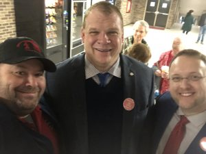 Knox County Mayor Glenn Jacobs, Knox County Commissioner at Large Seat 11 Justin Biggs and I