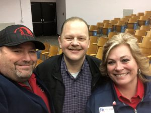Republican State Executive Committeewoman Amy Jones, her husband Bill and I