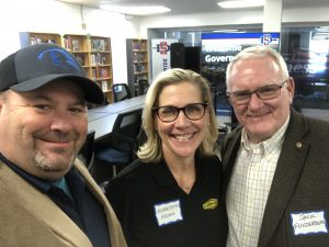 Meredith Hough of Harrison Concrete, Jack Funderburk of Funderburk Electric and me