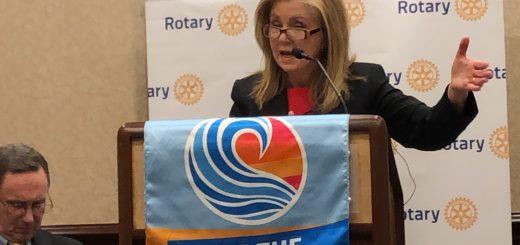 The Senator delivering her remarks