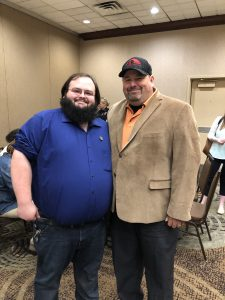 Zach Houk, Chairman of the Knox County Libertarian Party and me