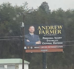 This is a billboard going into Sevierville from Seymour.