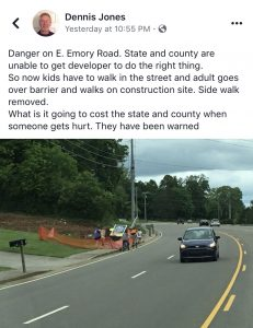 Hey TDOT, What is Up on Emory Road? – BrianHornback com