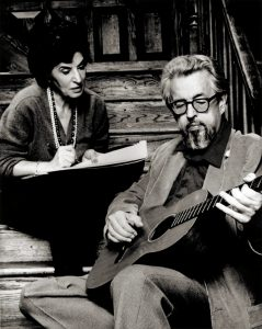 Felice and Boudleaux Bryant, songwriters of Rocky Top n 1967 at The Gatlinburg Inn.