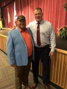 Myself and Knox County Mayor Glenn Jacobs (taken in 2019 before the 6 foot social distancing because of COVID-19)