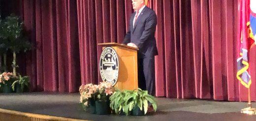Mayor Jacobs presenting his budget