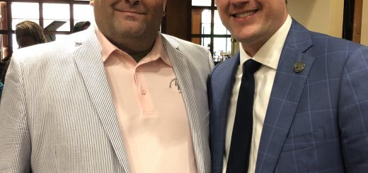 Kyle Hixson of the Knox County DA's Office and President of the West Knox Republican Club and me, President of Center City Conservatives Republican Club