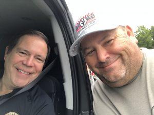 Knox County Sheriff Tom Spangler and I