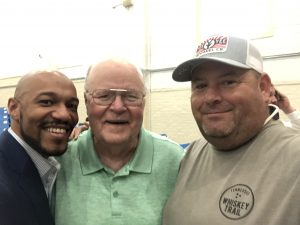 Charles Lomax candidate for at Large Seat A, Jim Jennings and myself