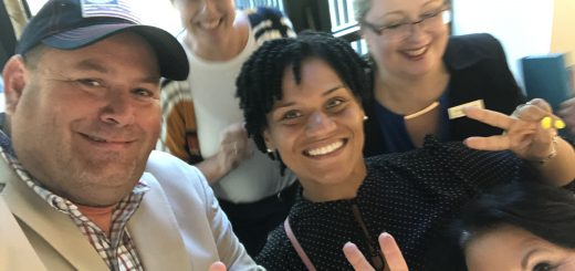 When School Board Member Evetty Satterfield and I are together, we bring the fun. School Board Members Kristi Kristy, Jennifer Owens and County Commissioner Michelle Carringer. Satterfield with the victory sign and me with the thumbs up