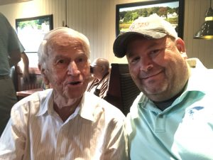 Longtime Member and Former President of West Knox Republican Club Wallace McClure and myself