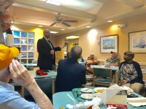 Lutton speaking with the Center City Conservatives Republican Club